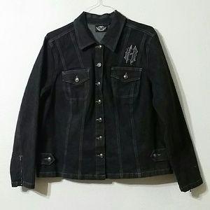 HARLEY DAVIDSON denim jacket, sz 1W